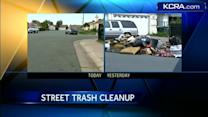Stockton neighborhood cleans up after KCRA 3 report
