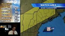 Severe Thunderstorm Watch for interior Maine and New Hampshire