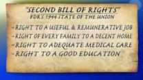Does President Obama want second Bill of Rights?