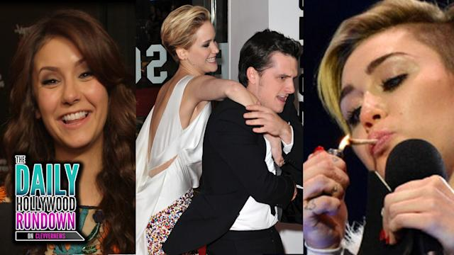 Miley Cyrus Joint On Stage! Nina & Ian Celebrate Vampire Diaries! Cody Simpson New Girlfriend!