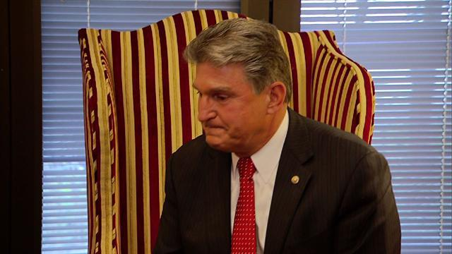 Sen. Manchin chokes up during meeting with Newtown families