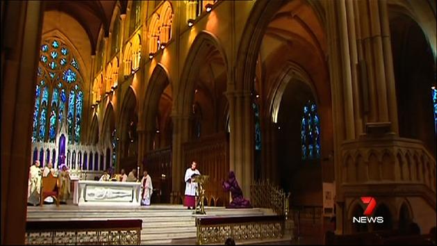 Papal mass at St Mary's Cathedral