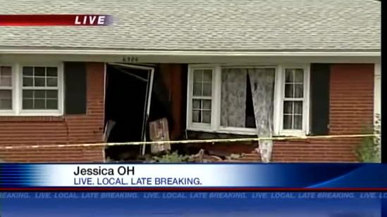 Police car crashes into house on Outer Loop