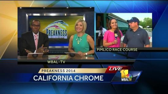 Domenica talks expectations with Calif. Chrome's trainer