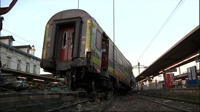 Train crash clearing operation under way in France