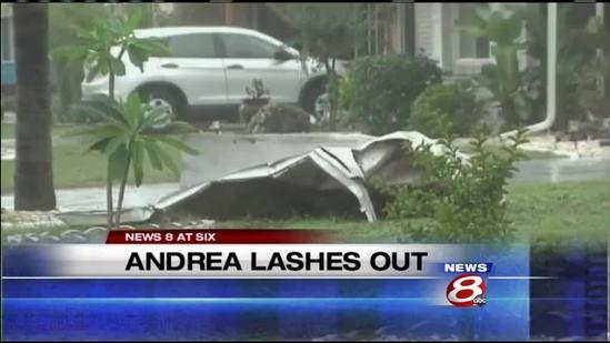 First Warning Weather team tracks Andrea