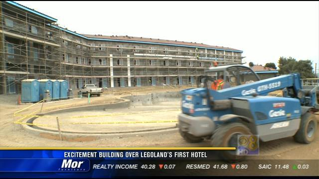 Excitement building over Legoland's first hotel
