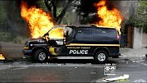 Riots Rock Baltimore, Several Cops Injured