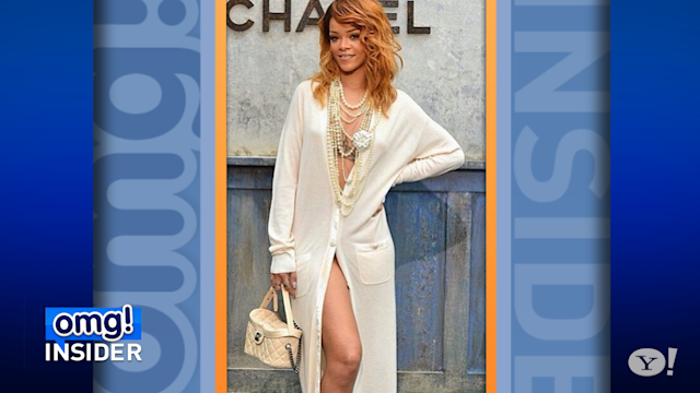 Rihanna Wears Nearly Nude Outfit to Chanel Fashion Show