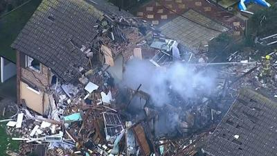 Raw: Gas Explosion Levels UK Home