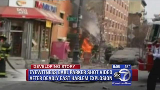 Witnesses capture flames on video