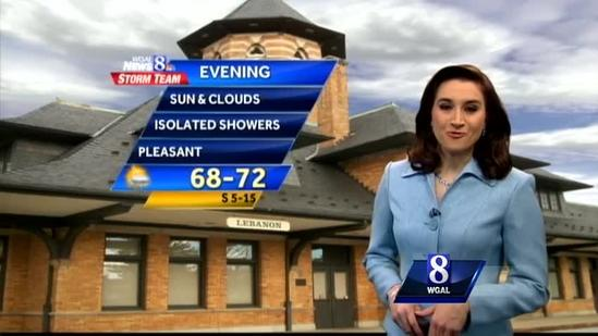 Isolated evening showers possible in northern counties