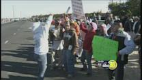 Many workers with Gerawan Farming protest United Farm Workers union