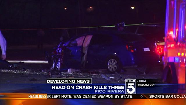 3 Killed in Pico Rivera Crash; Including 2 Children