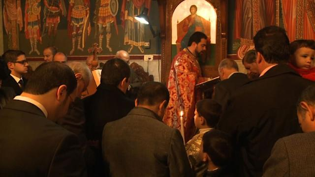 Orthodox Christians in Gaza celebrate Christmas