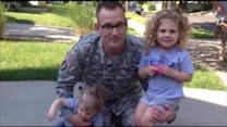 Soldier Surprises Daughter for Birthday Celebration