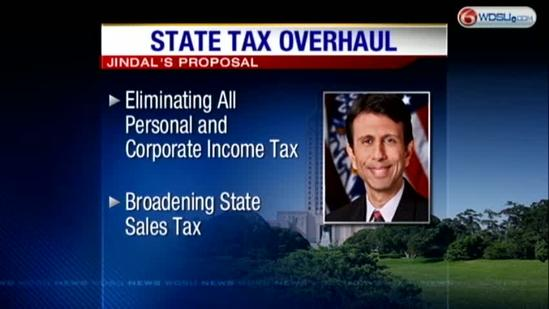 Jindal seeks to eliminate income tax for higher sales tax
