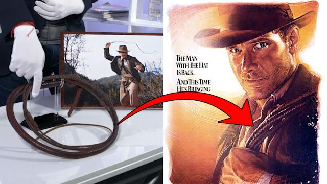 Prop Store Live Auction: Hands on preview with Indiana Jones' bullwhip