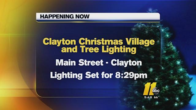 Clayton gathers for Christmas tree lighting
