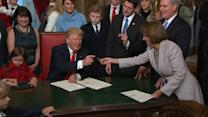 Trump, Lawmakers Joke About Pens During Law Signing