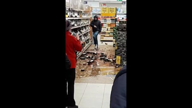 A Very Sad Day Man Smashes Liquor Bottles At Ireland Tesco Store