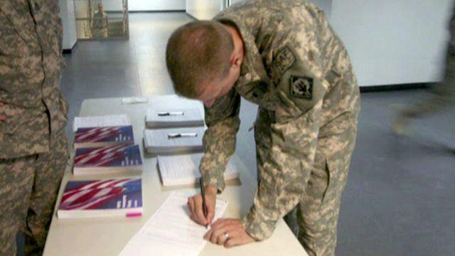 Are troops in the field getting their voting ballots?