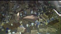 Truck crashes, spills 45K lbs. of dairy product
