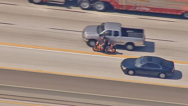 Motorcycle chase ends in CHP arrest of injured rider