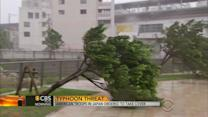 Japan under pressure from powerful typhoon