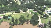 Aerial Footage of Oklahoma Flooding at Lake Texoma