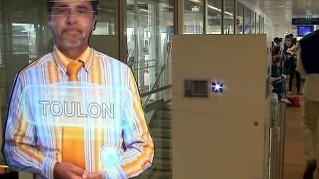 Holograms welcome airport passengers