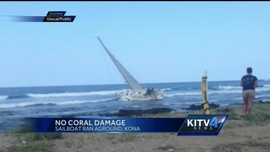 Biologist says grounded sailboat did not damage coral