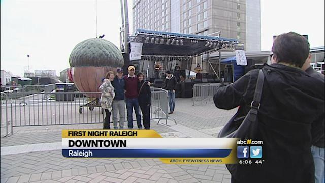 Streets fill for First Night Raleigh