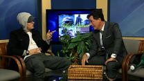 Stephen Colbert Hosts Random Public Access Show, Interviews Eminem