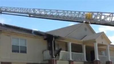 RAW VIDEO: Fire Burns Ft. Smith Apartment