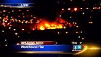 Massive fire breaks out in Bridgeport warehouse