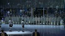 Sabres honor military personnel
