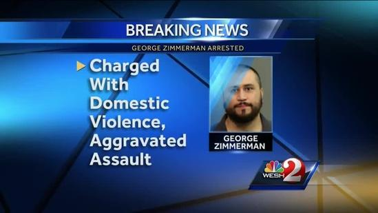 George Zimmerman arrested after pointing gun at girlfriend, deputies say