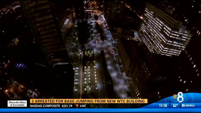 3 arrested for base jumping from new WTC building