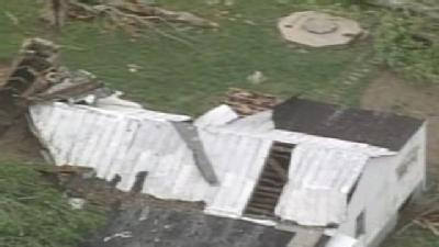 Aerial Video: Grayson County Storm Damage