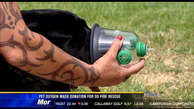 Pet oxygen mask donation for San Diego Fire-Rescue