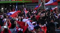 Raw: Chile Celebrates Big World Cup Win