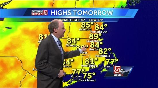 Harvey's latest Boston-area Wednesday forecast