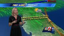 Heavy rain expected Thursday afternoon