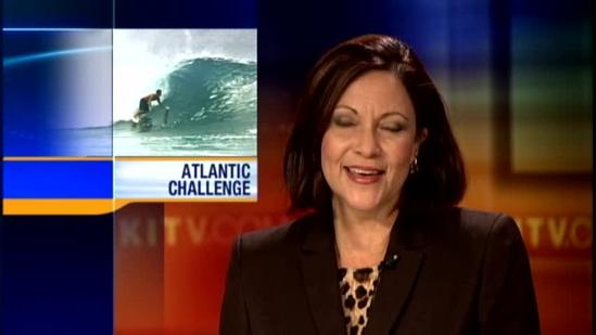 Giant wave thrusts local surfer onto world stage