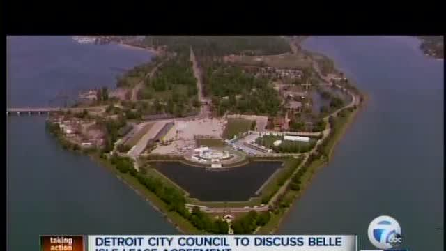 City Council meeting on Belle Isle