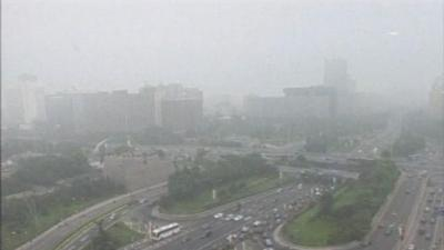 Raw: Heavy Smog Shrouds Cities in China