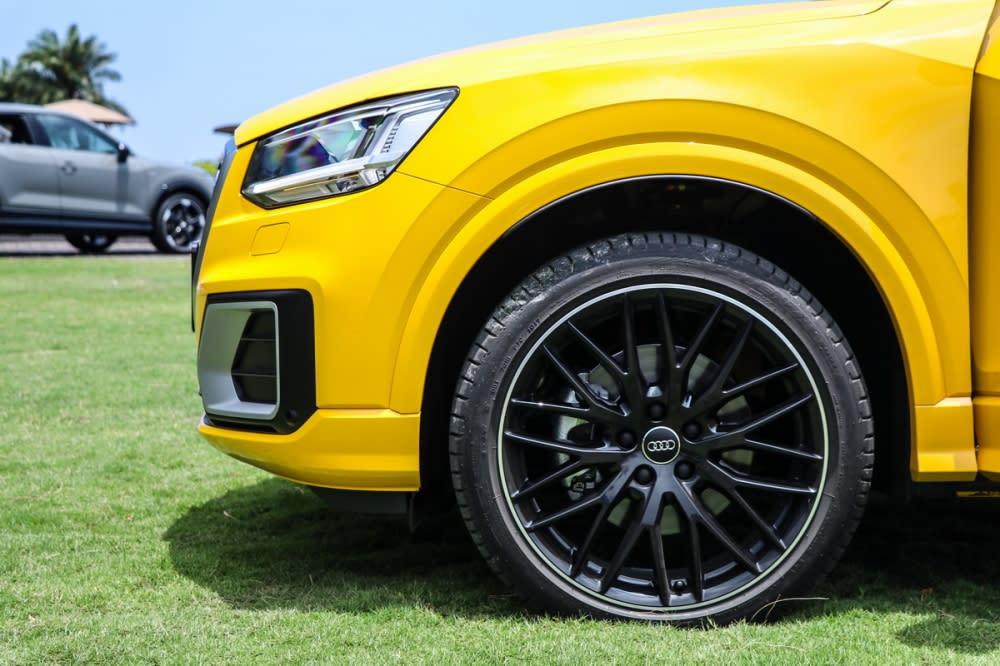 試駕車選配Audi Sport 19吋鋁圈