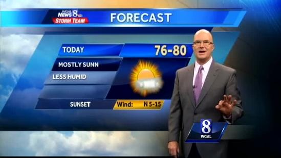 Expect sunny skies, pleasant temperatures today