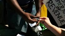 Free marijuana distributed at Colo. tax protest